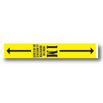 Sticker de sol  jaune 1M  L100 H 15cm