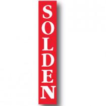 Grote affiche, SOLDEN, 176 x 30 cm.