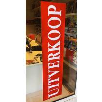 """Poster """"UITVERKOOP""""  L168 H40 cm"""