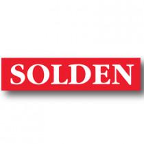 Poster SOLDEN,  L168 H40cm.