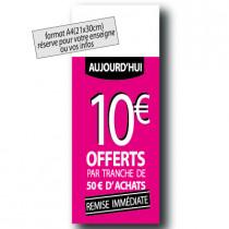 """Panneau """"10€"""" L30 H80 cm"""
