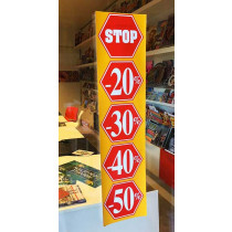 "Poster  ""STOP 20%30%40%50%"" L20  H82cm"