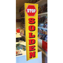 "Poster  ""STOP SOLDEN"" L20  H82cm"