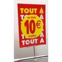 """OFFRE SPÉCIALE : les 3 panneaux polypro """"10€"""" 21x30cm"""