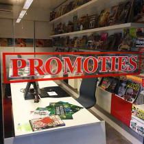 """Clear vinyl  """"PROMOTIES"""" L 95 H17 cm."""
