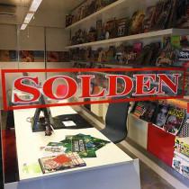 """Clear vinyl  """"SOLDEN"""" L 95 H17 cm."""