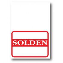 """Paquet de 1000 étiquettes papier """"SOLDEN"""" L70 H100 mm"""