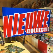 """Poster  """"NIEUWE COLLECTIE"""" L58 H29cm"""