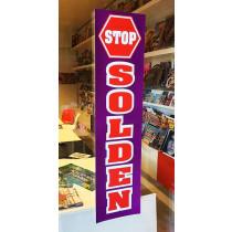 Poster STOP SOLDEN  L20  H82 cm.
