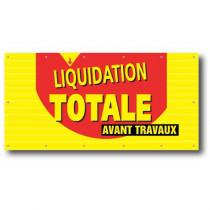 Bâche LIQUIDATION TOTALE  14 oeillets  L250 H 120 cm