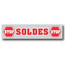 """Affiche """"SOLDES""""  L115 H30 cm"""