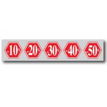 "Affiche ""-10% à -50%"" L115 H30 cm"