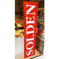 """Poster """"SOLDEN""""  L168 H40 cm."""