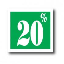 """Affiche """"20%"""" L40 H40 cm"""