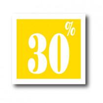 """Affiche """"30%"""" L40 H40 cm"""