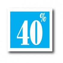 """Affiche """"40%"""" L40 H40 cm"""
