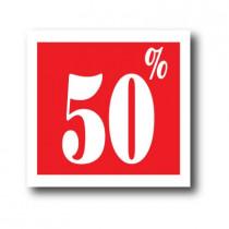 """Affiche """"50%"""" L40 H40 cm"""
