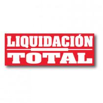 Cartel LIQUIDACION TOTAL 168 x 60 cm