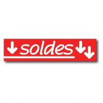 """Affiche """"SOLDES"""" L82  H20 cm"""