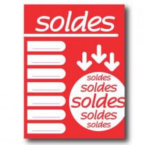 """Affiche """"SOLDES"""" L60 H80 cm"""