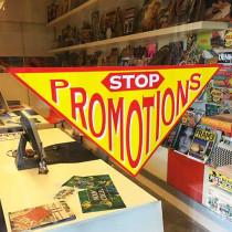 Poster STOP PROMOTIONS  L82 H41 cm