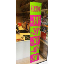 "Poster ""KORTING 10% 20%30%40%50%"" L30 H168 cm"