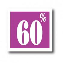 """Affiche """"60%"""" L40 H40 cm"""