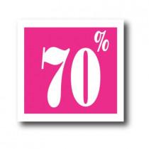 """Affiche """"70%"""" L40 H40 cm"""