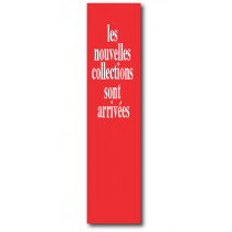 "L'affiche ""nouvelle collection"" L20 H82 cm"