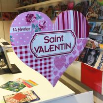 Carton découpé Saint Valentin L48 H46 cm
