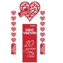 kit de 3 cartons Saint Valentin et 1 affiche