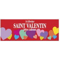 "Affiche ""St Valentin"" L115 H42 cm"