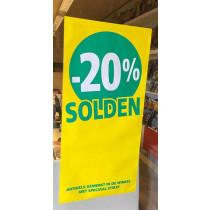 Poster SOLDEN 20%, 115 x 56 cm
