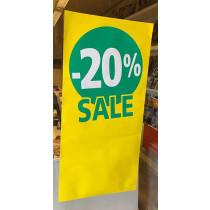 Poster SALE 20%, 115 x 56 cm