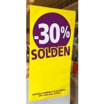 Poster SOLDEN 30%, 115 x 56 cm