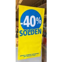 Poster SOLDEN 40%, 115 x 56 cm