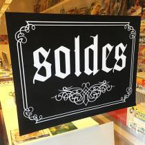 """Poster """"SOLDES"""" L80 H60 cm"""