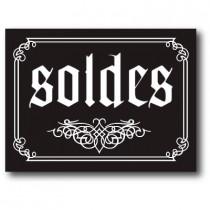 """Affiche """"SOLDES"""" baroque L80 H60 cm"""