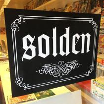 """Poster """"SOLDEN"""" L80 H60 cm"""