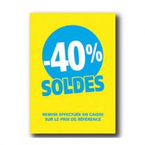 Pochette de 5 cartons A4 40%