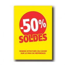 Pochette de 5 cartons A4 50%