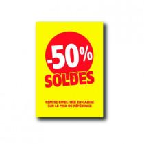 Pochette de 5 cartons A5 50%