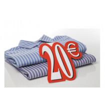 Carton 20 € L24 H28 cm