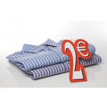 Carton 2 €  L12  H28 cm