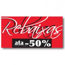 Cartel REBAIXAS ATA -50%, 56 x 115 cm
