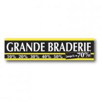 "Affiche ""Grande braderie"" L80 H20 cm"