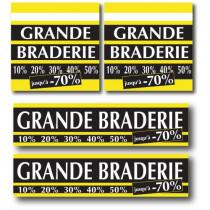 "Kit  ""Grande braderie"" 2x L40 H40 et 2x L80 H20 cm"