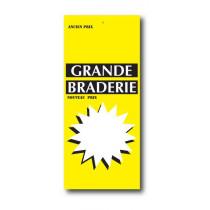 Paquet de 100 étiquettes papier  GRANDE BRADERIE L60 H140 mm