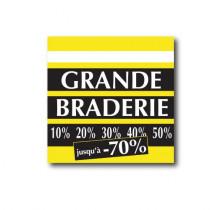 "Affiche ""Grande braderie"" L40 H40 cm"