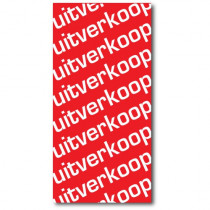 "Affiche ""UITVERKOOP"" L40 H80 cm"